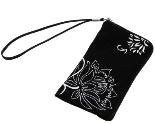 Funda de neopreno para móviles (12,5 x 6,5 x 1 cm), color negro. Ocasi