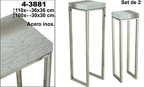 Set de 2 pedestales con descuento