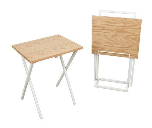Set mesas auxiliares Lina roble/blanco. Oferta