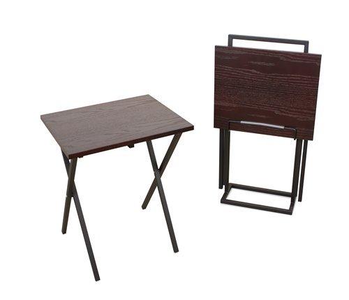 Set mesas auxiliares Lina wengue/negro