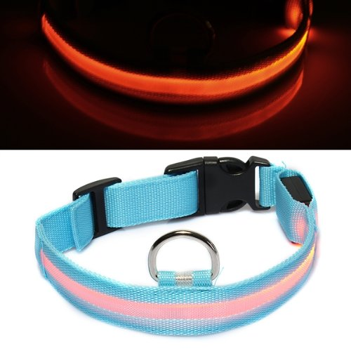 Collar Nylon ABS Ajustable con LED Luz Naranja par..