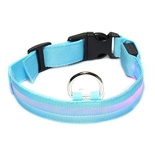 Collar Nylon ABS Ajustable con LED Luz Rosa para P..
