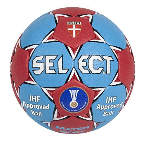 Balón de balonmano suave, color gris y rojo azul azul / rojo Talla:1.