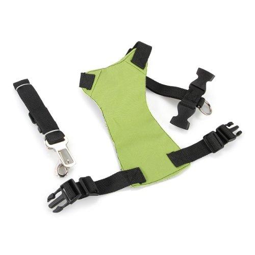 SODIAL(R) Cinturn de Seguridad Verde Correa para P..