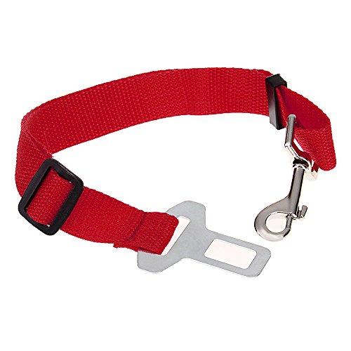 Correa Cinturon de Seguridad Coche Rojo para Perro... Oferta
