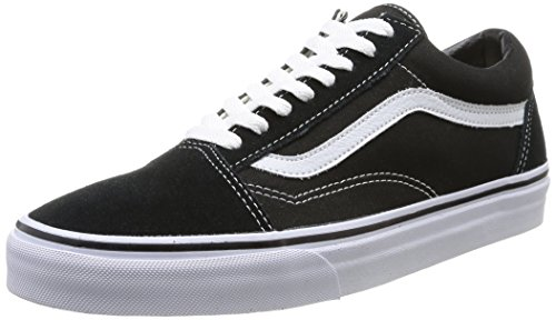 Zapatillas de tela, unisex, color negro (black/white), talla 42 con de