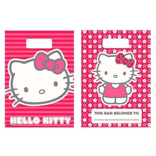 Bolsas de fiesta Hello Kitty , pack de 8. Oferta