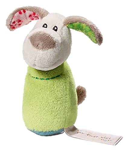 Perro Fino de 11 cm con sonajero (37870). Saldo