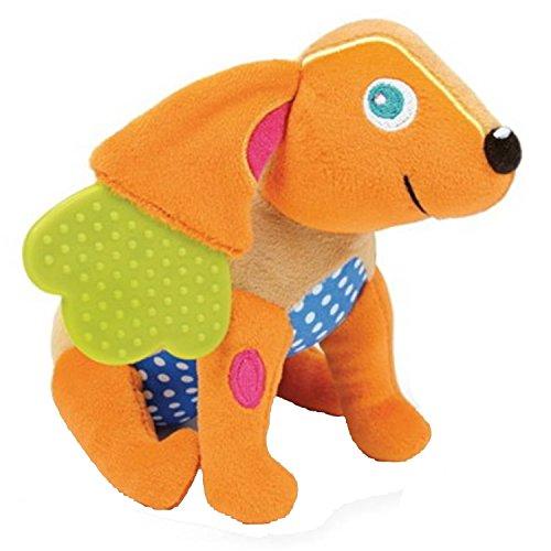 Sonajero y mordedor 2 en 1 (múltiples texturas), diseño de perro