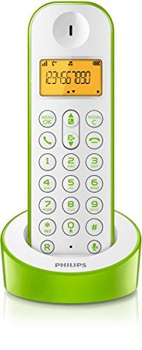Teléfono inalámbrico (DECT, 50m, 300m), verde y blanco. Oferta