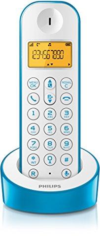 Teléfono inalámbrico (DECT, 50m, 300m), azul y blanco