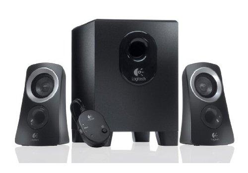 Altavoces de ordenador 2.1 (25W, 2.9 kg, control de sonido), negro