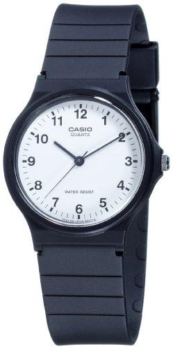 Reloj unisex de cuarzo, correa de resina color negro. Saldo