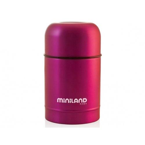 Termo de sólidos en acero inoxidable, color rosa. Oferta