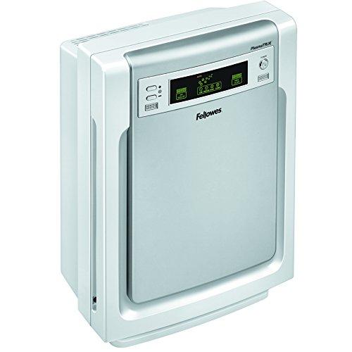 Purificador de aire (tamaño mediano), color blanco y plateado. Saldo