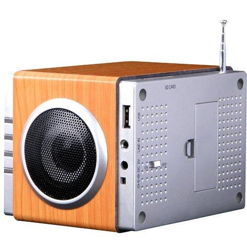 Radio FM MP3 y alarma despertador, potente radio estéreo con acabado d