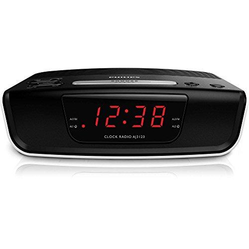 Radio despertador (sintonizador FM, temporizador y alarma dual), color
