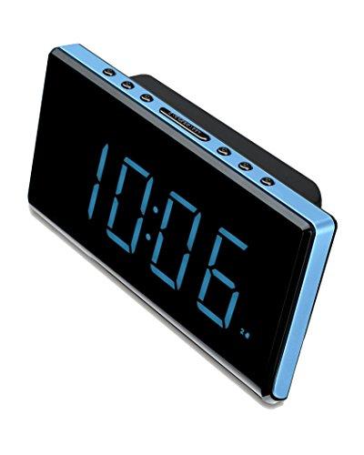 Radio despertador (FM digital, alarma x 2, DST, NAP) azul. Ocasión