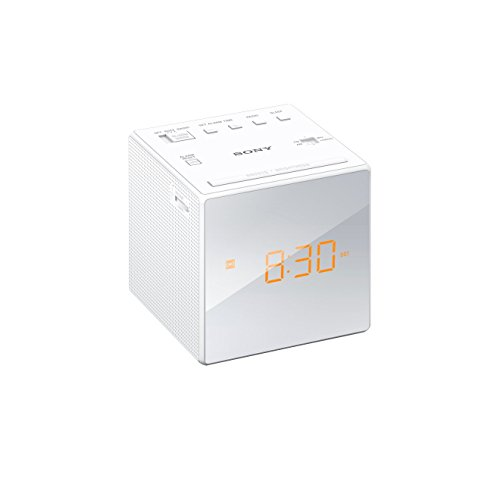 Radio despertador (AM/FM, alarma, fecha, pantalla LED) color blanco