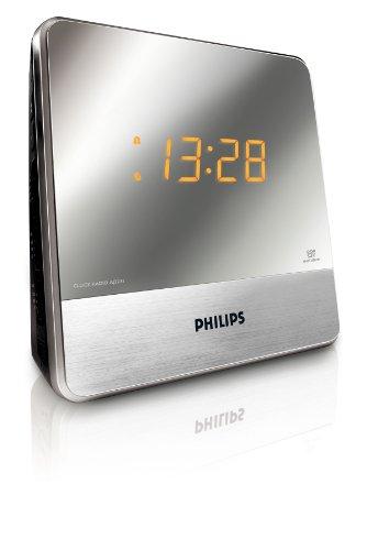 Radio despertador (sintonizador FM, alarma dual y temporizador), plate