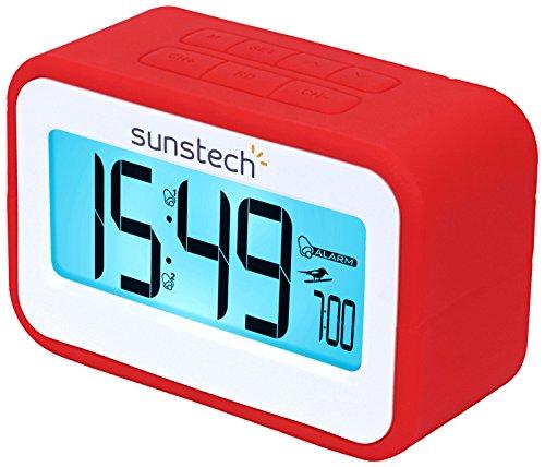 Radio despertador (FM digital, alarma dual, función Snooze, termometro