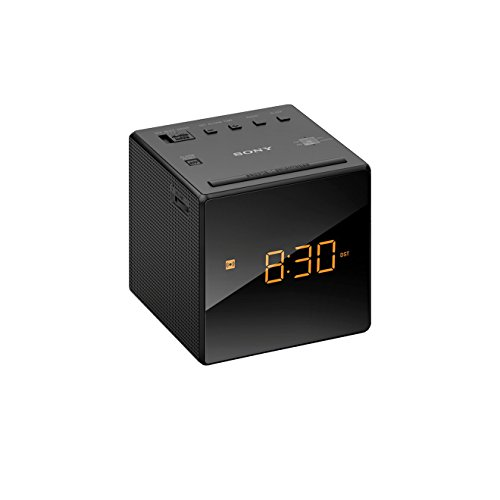 Radiodespertador (AM/FM, alarma, fecha, pantalla LED), negro. Oferta