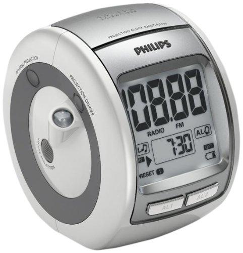 Radio despertador (Sintonizador FM,  temporizador y proyección), plate