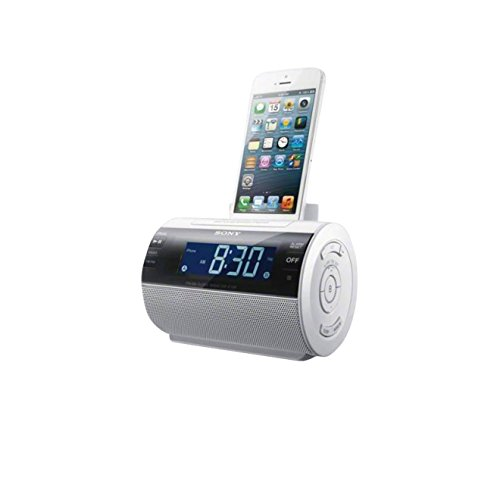 Radio despertador con puerto dock para Apple iPhone 5 (digital, AM/FM)