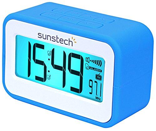Radio despertador (FM digital, alarma dual, función Snooze, termómetro