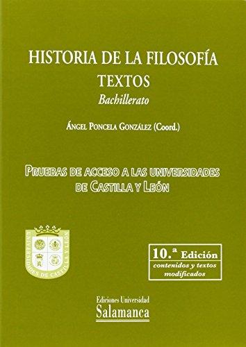 Historia de la filosofía. Textos. Bachillerato (10... Ocasión