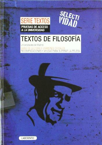 Textos de Filosofía. Universidades de Madrid: Guía..