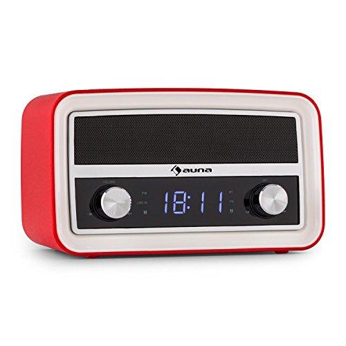 Auna Caprice RD radio despertador diseño retro (in... Saldo