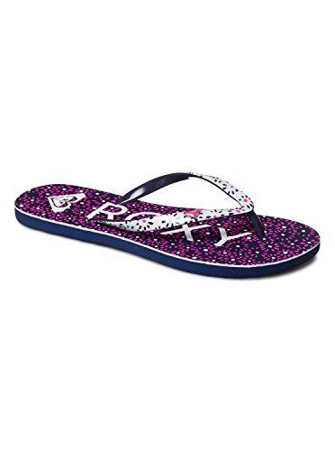 Sandalias para mujer, color blanco / azul marino, talla 40. Saldo