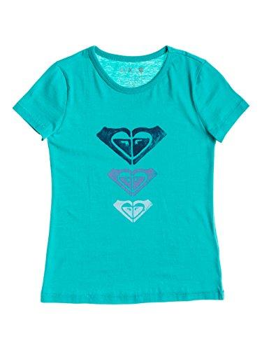 Camiseta con serigrafía para niña, color azul claro, talla 12/L. Saldo