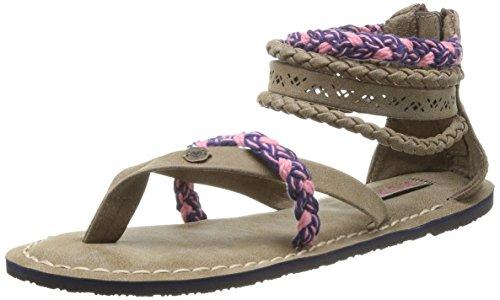 Sandalias para mujer, color marrón, talla 40