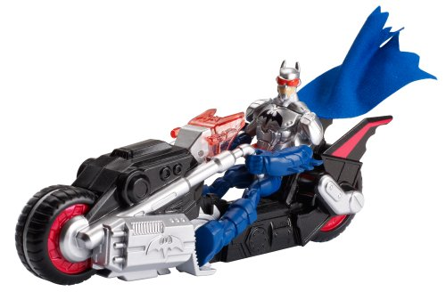 Figura con vehículo Batchopper (Mattel BHC88). Ocasión