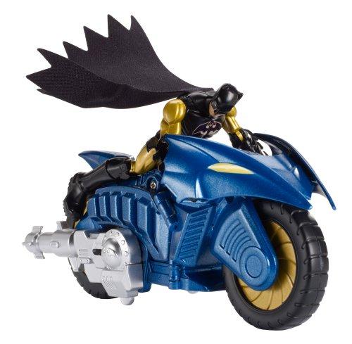 Figura con vehículo Batcycle (Mattel BHC87)