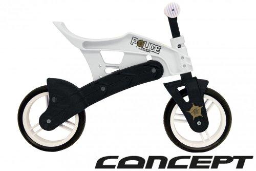 Bicicleta infantil (sin pedales) weiss/schwarz