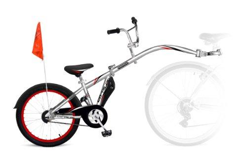 Remolque de bicicleta infantil, tamaño 20, color plateado
