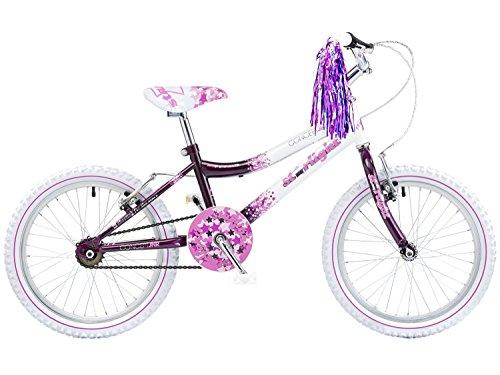 Bicicleta infantil para niña, 5 7 años, color violeta / blanco. Ocasió