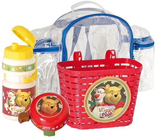 Lote de accesorios infantiles para bicicleta (bolsa, cesta, cantimplor