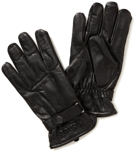 Guantes para hombre, talla 9, color negro. Saldo