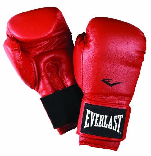Guantes de boxeo (piel) rojo rojo Talla:18. Saldo