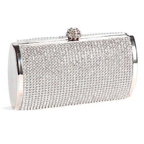 Bolso de Fiesta Boda Salir para Mujer de Brillante Con Diamantes Bolso