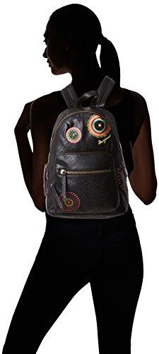 Bolso Mochila de material sintético mujer, color marrón, talla 25x34x1