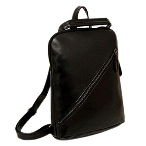 Estilo PU cuero mochila Messenger Bag mujeres homb... Ocasión