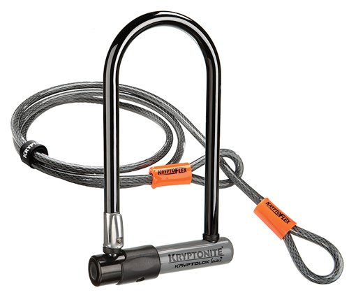 Candado antirrobo con cable para bicicleta (incluye adaptador flexible
