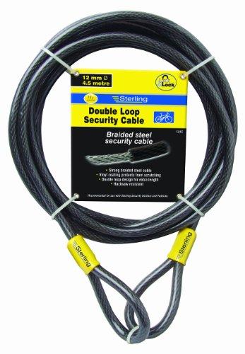 Cable de seguridad de bucle doble autoenroscable (recubrimiento de vin