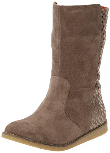 Botas de otras pieles para niña gris Gris (123 Gris Damier) 31. Oferta