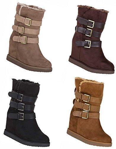Botinetas Mujeres Zapatos aspecto cuero Forrado piel artificial Tacón